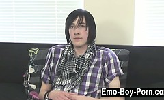 Gay fuck Adorable emo guy Andy is new to porn but he
