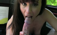 Horny cheating wife blowjob and screwed by the taxi driver