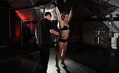 Newbie Alessandra hard trained for submission