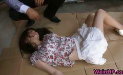 Busty Asian Slut Rui Saotome Caged