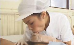 Asian nurses giving BJs to patients