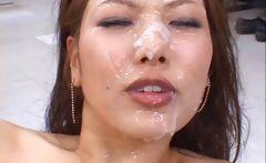 Aya matsuki hot asian doll enjoys a cum