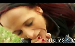 Amateur gipsy anal sex and facial jizzed in public