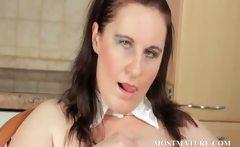 BBW mature teases her sexy assets
