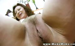Her asian pussy loves her new sex toy to play with