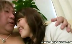 Two hairy old asians make out rub lick and undress