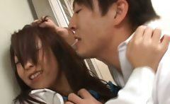 Asian models are fucked in an elevator