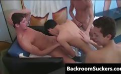 Orgy in Lounge free gay porn