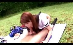Busty Asian Coed in Outdoor Sex!