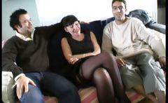 Martine, french mature in foursome