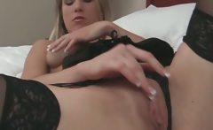 Blonde Solo Sexy Lingerie And Stockings